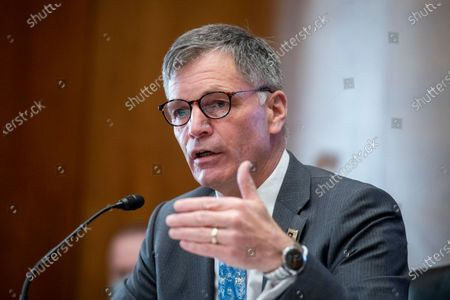 Editorial photo of Senate Committee on Energy and Natural Resources hearing to examine energy development on federal lands, focusing on the current status of the Department of the Interior's onshore oil and gas leasing program., Washington, District of Columbia, USA - 27 Apr