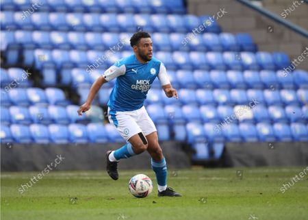 Nathan Thompson (PU) at the Peterborough United v Doncaster Rovers EFL League One match at the Weston Homes Stadium, Peterborough, Cambridgeshire.