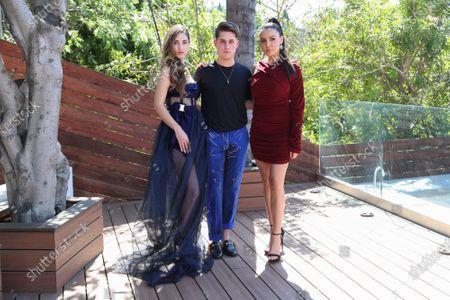 Megan Pormer, Jonathan Marc Stein and Shannon Baker attend the Jonathan Marc Stein virtual show