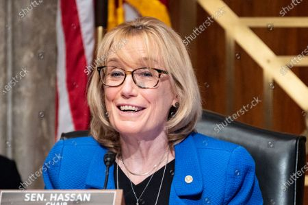 U.S. Senator Maggie Hassan (D-NH) speaks at a hearing of the Senate Homeland Security and Governmental Affairs.