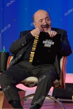 Maurizio Costanto during the broadcast Maurizio Costanzo Show last episode 2021.