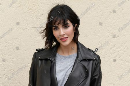 Stock Picture of Rocio Munoz Morales poses for photographs on arrival at the studios for the recording of the last episode of the maurizio costanzo show 2021.