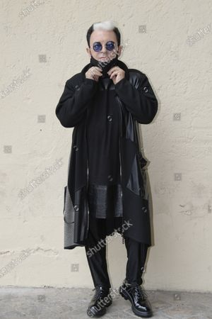 Cristiano Malgioglio poses for photographs on arrival at the studios for the recording of the last episode of the maurizio costanzo show 2021.