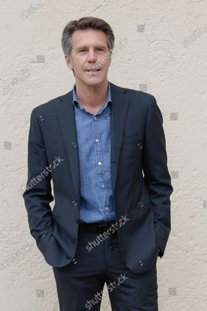 Stock Photo of Emanuele Filiberto di Savoia poses for photographs on arrival at the studios for the recording of the last episode of the maurizio costanzo show 2021.