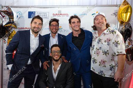 Jason Zuccari, Eli Shkarofsky, actor RJ Mitte, another crew member and Joe Volfman, bottom,