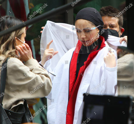 Editorial picture of Nura Afia Maybelline commerical on set filming, New York, USA - 27 Apr 2021