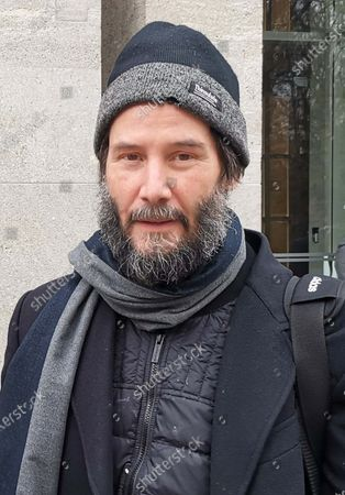 """Keanu Reeves leaving his hotel for the set of """"John Wick 4"""" for Studio Babelsberg, Potsdam"""
