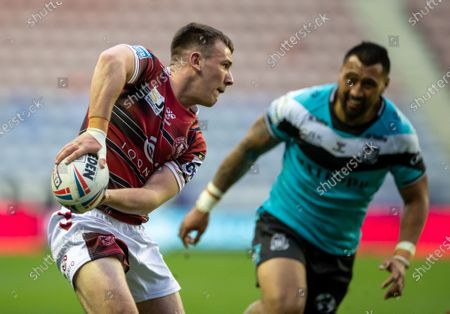 Editorial photo of Wigan Warriors v Hull F.C., Betfred Super League, Rugby, DW Stadium, Wigan, UK - 29 Apr 2021