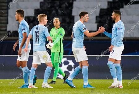 Rodrigo of Manchester City, Oleksandr Zinchenko of Manchester City, Ruban Dias of Manchester City and Kyle Walker of Manchester City