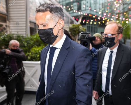 Stock Image of RYAN GIGGS arrives at Manchester and Salford Magistrates Court . The former Manchester United footballer and Wales manager has been charged with causing actual bodily harm to a woman in her 30s and common assault of a woman in her 20s in relation to incidents that took place on the evening of Sunday 1st November 2020 and has further been charged with one count of coercive and of controlling behaviour between December 2017 and November 2020
