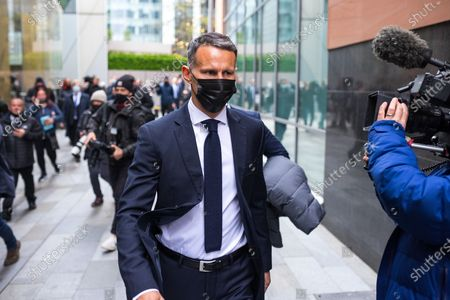 RYAN GIGGS leaves Manchester and Salford Magistrates Court after his first appearance in court . The former Manchester United footballer and Wales manager has been charged with causing actual bodily harm to a woman in her 30s and common assault of a woman in her 20s in relation to incidents that took place on the evening of Sunday 1st November 2020 and has further been charged with one count of coercive and of controlling behaviour between December 2017 and November 2020