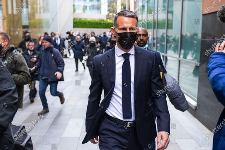 Stock Picture of RYAN GIGGS leaves Manchester and Salford Magistrates Court after his first appearance in court . The former Manchester United footballer and Wales manager has been charged with causing actual bodily harm to a woman in her 30s and common assault of a woman in her 20s in relation to incidents that took place on the evening of Sunday 1st November 2020 and has further been charged with one count of coercive and of controlling behaviour between December 2017 and November 2020