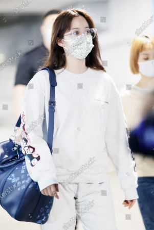 Editorial picture of Ouyang Nana out and about, Shanghai, China - 28 Apr 2021