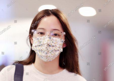 Nana Ou-yang at the airport