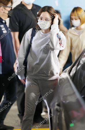 Stock Photo of Nana Ou-yang at the airport