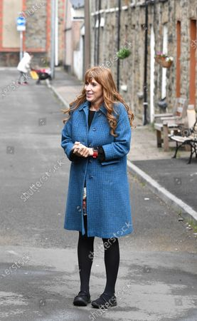 Labour Deputy Leader Angela Rayner campaigning at The Factory in Porth, South Wales ahead of the Senedd elections in Wales next week.