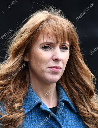 Stock Picture of Labour Deputy Leader Angela Rayner campaigning at The Factory in Porth, South Wales ahead of the Senedd elections in Wales next week.