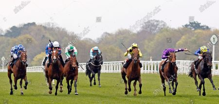 OH THIS IS US (2nd right, Tom Marquand) beats PRINCE EIJI (centre) in The Charlie Waller Trust Paradise Stakes Ascot