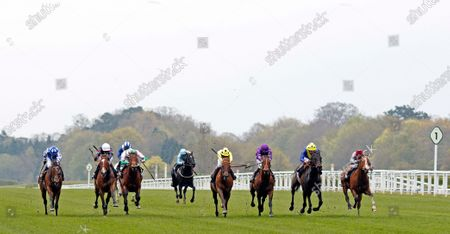 Stock Photo of OH THIS IS US (3rd right, Tom Marquand) wins The Charlie Waller Trust Paradise Stakes Ascot