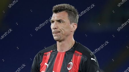 Milan's Mario Mandzukic during the Serie A soccer match between Lazio and AC Milan at Rome's Olympic stadium