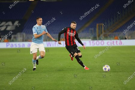 Home victory for Lazio that beat AC Milan 3-0 at the Olimpico for the 33th matchday of Serie A. Correa double and Immobile scored goals for Lazio.IN THIS PICTURE Ante Rebic