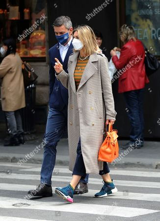 Editorial photo of Martina Colombari and Alessandro Costacurta out and about, Milan, Italy - 28 Apr 2021