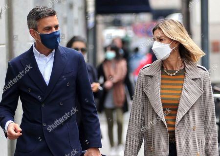 Editorial image of Martina Colombari and Alessandro Costacurta out and about, Milan, Italy - 28 Apr 2021