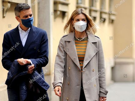 Editorial picture of Martina Colombari and Alessandro Costacurta out and about, Milan, Italy - 28 Apr 2021