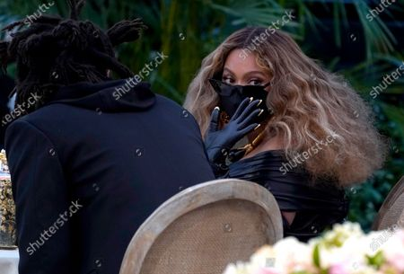 Beyonce appears in the audience at the 63rd annual Grammy Awards at the Los Angeles Convention Center on