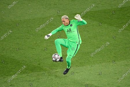 Keylor Navas during to the UEFA Champions League first leg semi-final football match between Paris Saint-Germain (PSG) and Manchester City in Paris on April 28, 2021.