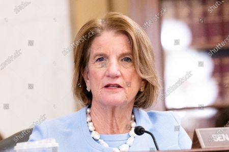 U.S. Senator Shelley Moore Capito (R-WV) speaking at a hearing of the Senate Environment and Public Works committee.