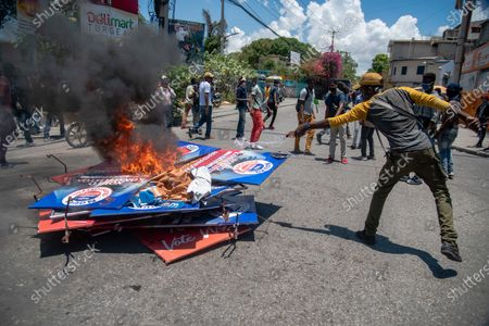 Editorial photo of Haitians protest against the Constitution promoted by the Government of Moise, Port Au Prince, Haiti - 28 Apr 2021