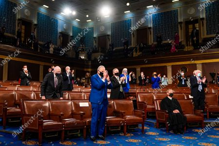 Editorial picture of Biden Delivers his First Address to a Joint Session of Congress, Washington, District of Columbia, USA - 28 Apr 2021