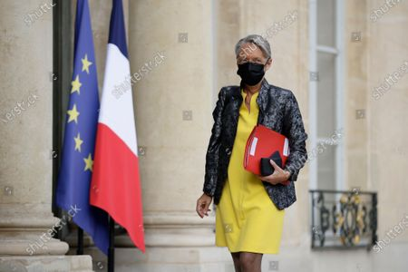 French Labour Minister Elisabeth Borne arrives at the Elysee Palace prior to a meeting with French President Emmanuel Macron and Labour Union representatives in preparation for the Porto European summit, in Paris, France, 29 April 2021.