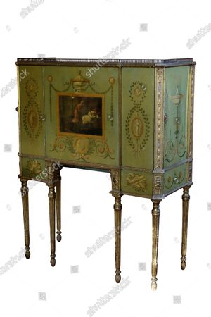 A George III cabinet sold for £31200  The contents of a millionaire financier's stately home have sold for over £750,000.  Dewlish House in Dorset, one of the most beautiful stately homes in Britain, sold recently for only the second time in its 300-year history and its treasures have gone under the hammer.  The top selling lot was a spectacular Queen Anne gilt mirror similar to one in the V&A Museum which sold for £65,000 including fees.  A George II giltwood console table, designed in the manner of William Kent, also went for double its estimate at £40,000 hammer, £52,000 including fees.  A pair of George III Serpentine chest of drawers sold for £39,000 and a rare oak bed dating from the reign of King Henry VIII sold for £26,000.