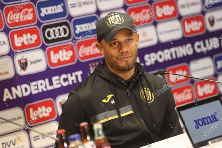 Anderlecht's head coach Vincent Kompany pictured during a press conference of Belgian soccer team RSC Anderlecht in Brussels, Thursday 29 April 2021, ahead of the first match of the play-offs of the 'Jupiler Pro League' Belgian soccer championship.