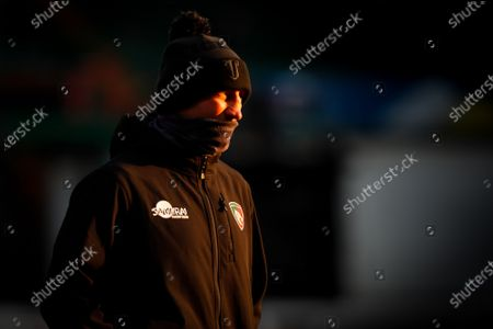 Leicester Tigers Head Coach Steve Borthwick during the pre-match warm-up; Mattioli Woods Welford Road Stadium, Leicester, Midlands, England; European Rugby Challenge Cup, Leicester Tigers versus Ulster.