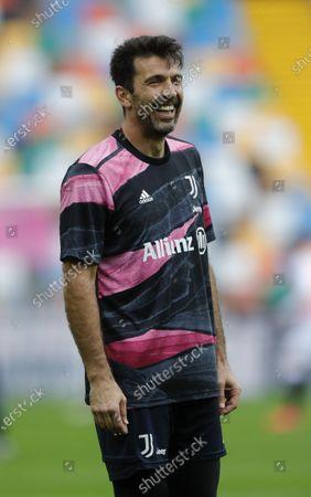 Gianluigi Buffon of Juventus during the warm up.