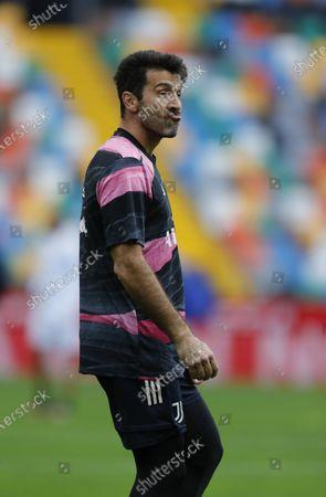 Gianluigi Buffon of Juventus pulls a face during the warm up.