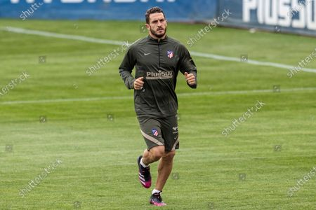 Atletico Madrid's midfielder Jorge 'Koke' Resurreccion during the training of the team held at Wanda Sports City in Mahadahonda, Madrid, Spain, 29 April 2021. Atletico Madrid will face Elche FC in theri Spanish LaLiga soccer match on 01 May 2021.