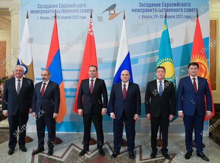 Editorial picture of EAEU Intergovernmental Council in Kazan, Russian Federation - 29 Apr 2021