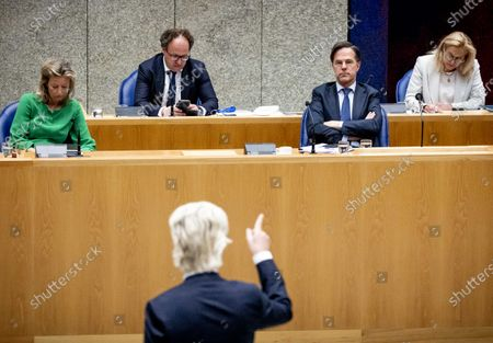 Editorial picture of House of Representatives debates minutes of the Council of Ministers, The Hague, Netherlands - 29 Apr 2021