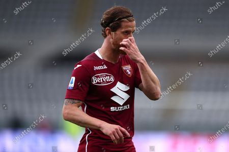 Cristian Ansaldi of Torino Fc looks on during the Serie A match between Torino Fc and Ssc Napoli at Stadio Grande Torino on April 26, 2021 in Turin, Italy.