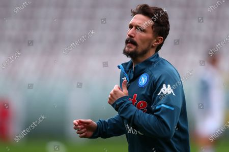 Mario Rui of Ssc Napoli looks on during the Serie A match between Torino Fc and Ssc Napoli at Stadio Grande Torino on April 26, 2021 in Turin, Italy.