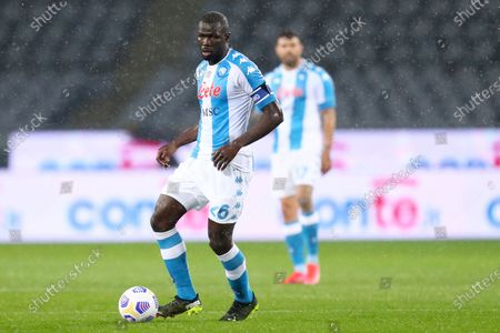 Stock Picture of Kalidou Koulibaly of Ssc Napoli in action during the Serie A match between Torino Fc and Ssc Napoli at Stadio Grande Torino on April 26, 2021 in Turin, Italy.