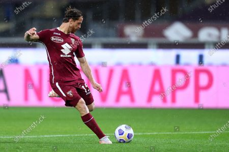 Cristian Ansaldi of Torino Fc in action during the Serie A match between Torino Fc and Ssc Napoli at Stadio Grande Torino on April 26, 2021 in Turin, Italy.