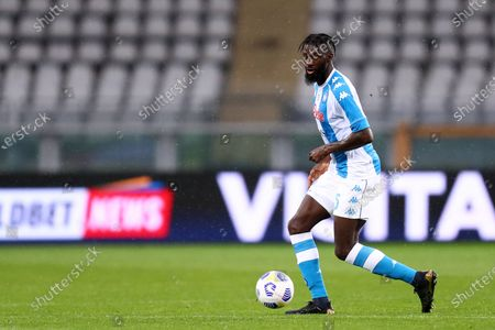Tiemoue Bakayoko of Ssc Napoli in action during the Serie A match between Torino Fc and Ssc Napoli at Stadio Grande Torino on April 26, 2021 in Turin, Italy.
