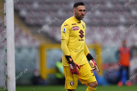 Stock Picture of Salvatore Sirigu of Torino Fc looks on during the Serie A match between Torino Fc and Ssc Napoli at Stadio Grande Torino on April 26, 2021 in Turin, Italy.