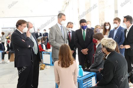Stock Photo of King Felipe VI awaits the ceremony of Princess of Girona Award's winner at Las Cigarreras, Alicante, Spain.