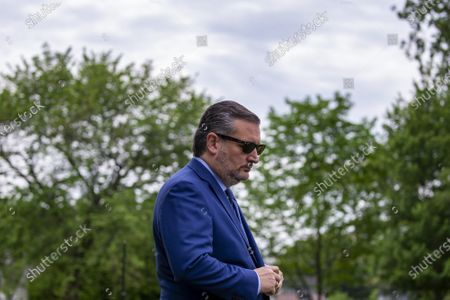 Sen. Ted Cruz, R-Tx., arrives at a press conference at the U.S. Capitol in Washington, DC on Thursday April 29 2021. Sen. Kristen Gillibrand, D-Ny., lend the push for Military Justice Improvement and Increasing Prevention Act legislation that will be voted on.
